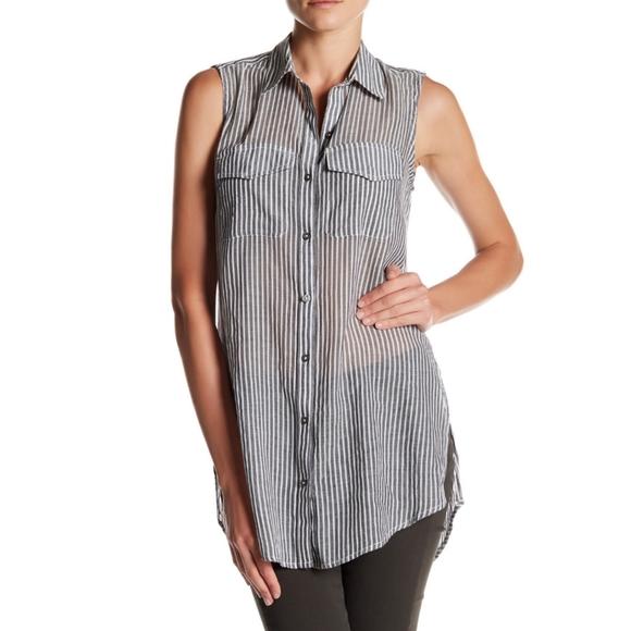 Nine West Sleeveless Button Down Tunic | Size SM